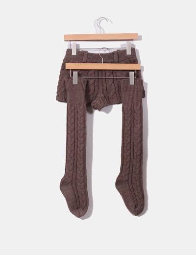 Conjunto de shorts y calentadores punto grueso