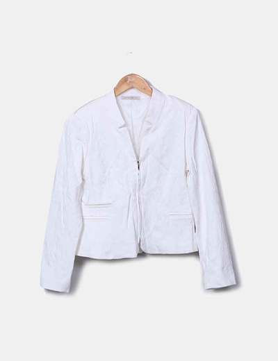 Blazer blanca texturizada Clp