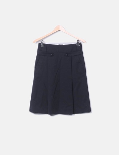 Schwarzer Midirock Zara