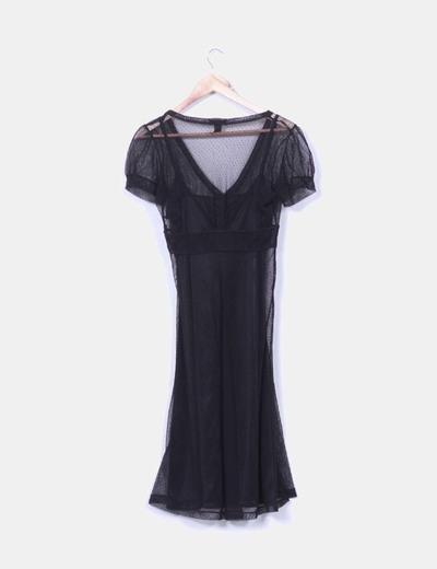 Vestido negro forro interior