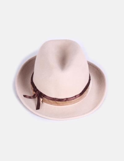 Borsalino beige con tira marrón