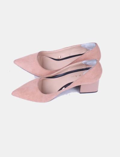5ce50ec5 Zara Zapatos nude tacón ancho (descuento 64 %) - Micolet