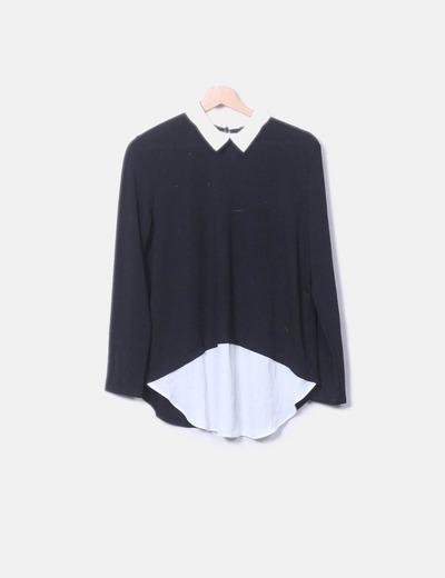 Jersey combinado negro