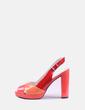 Sandalia de tacón combinado brillante Geox