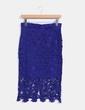 Falda azul combinada con crochet Lefties