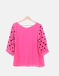 Blusa rosa con lunares KuLun