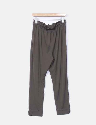 Pantalon baggy verde oscuro