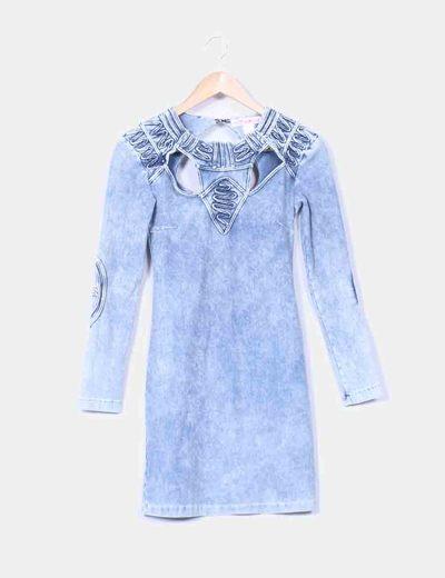moda mejor valorada selección asombrosa Super baratas Vestido vaquero efecto desgastado