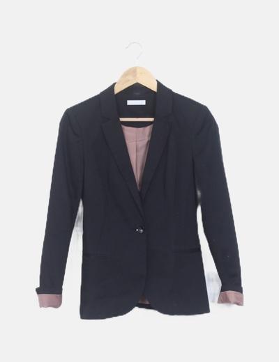 Blazer negra manga larga