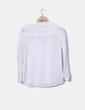 Blusa plumetti color crudo con lazo Zara