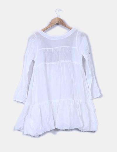 recoger obtener nueva bien fuera x Vestido blanco vaporoso combinado