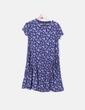 Vestido azul marino floral con bolsillos Asos