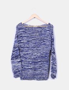 Tricot jaspeado azul Zara