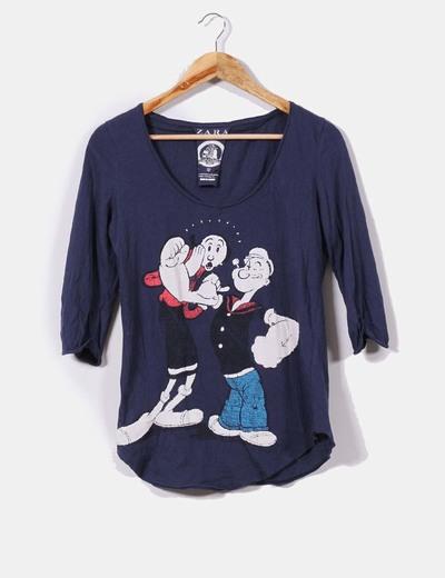 Zara camiseta azul print popeye y olivia descuento 70 micolet camiseta azul print popeye y olivia zara thecheapjerseys Choice Image