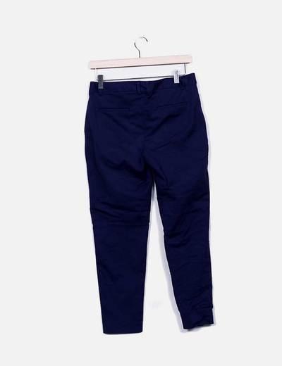 Pantalon tobillero azul