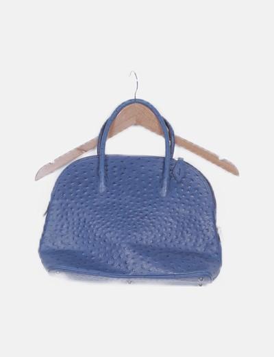 Bolso asa azul marino textura
