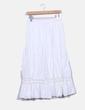 White long skirt combined El Corte Inglés