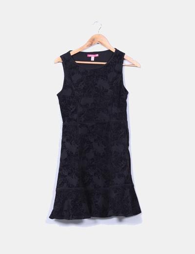 Vestido negro texturizado Smash