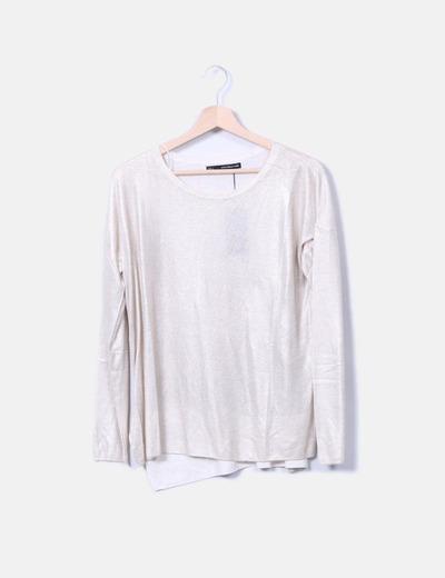 Suéter beige glitter Sfera
