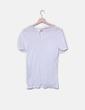 Camiseta blanca abalorios Massimo Dutti