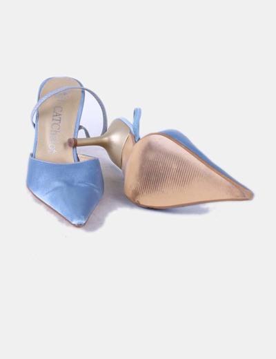 Destalonado Celeste Zapato Azul De Punta MVpSUz