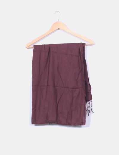 Pañuelo marrón con flecos NoName