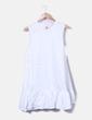 Robe blanche évasée volantée Senes