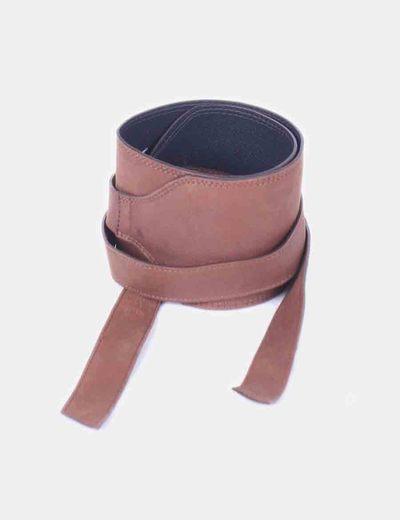 El Corte Inglés Cinturón ancho en piel marrón (descuento 78%) - Micolet 2c955b4b77bd