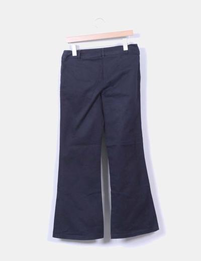 Pantalon de campana azul marino