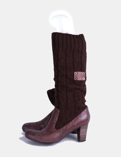 Bota marrón combinada Pepe Jeans