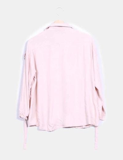 Camisa rosa hombros lentejuelas