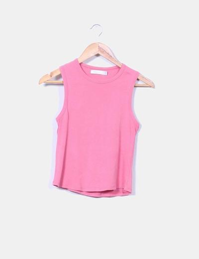 Top rosa sin mangas Zara