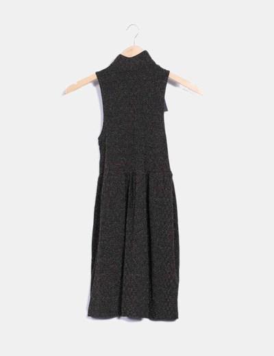 Vestido texturizado bicolor Suiteblanco
