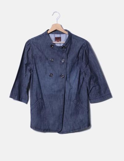 Abrigo denim con botones marrones Easy Wear