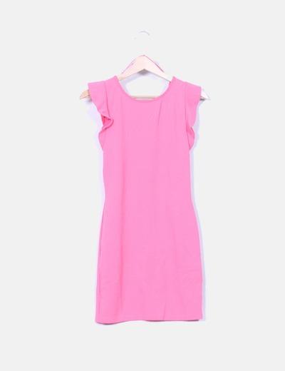 comprar super calidad moderno y elegante en moda Vestido rosa chicle