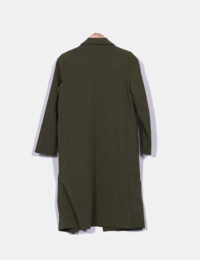 Abrigo largo verde militar