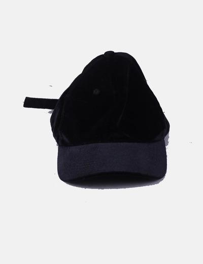 Gorra terciopelo negro Easy Wear