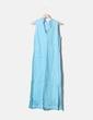 Vestido azul sin mangas con bordados Massimo Dutti