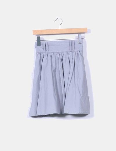 Mini falda gris de vuelo H&M