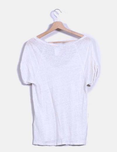 Camiseta de lino blanca