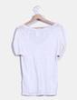 Camiseta de lino blanca Sandro