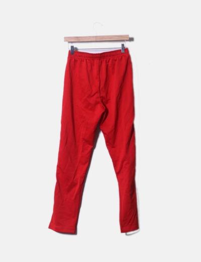 pantalon banda lateral roja zara