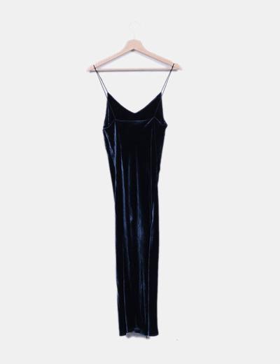 Vestido veludo azul zara