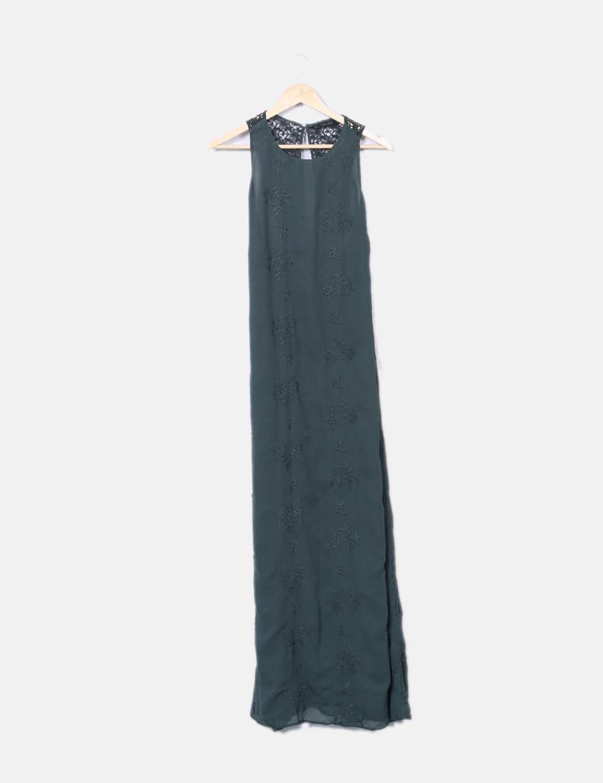 1453023201ab bordados con verde Vestidos Zara online baratos Maxi vestido q8txUHx ...