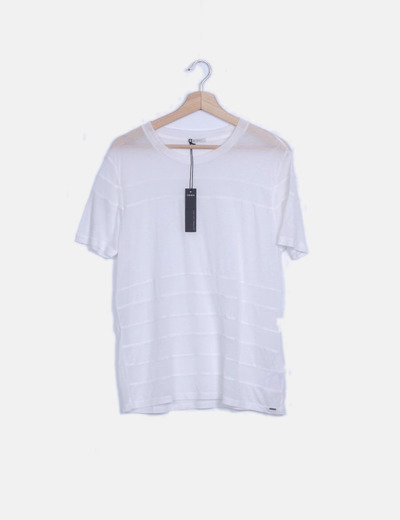 Camiseta de manga corta blanca