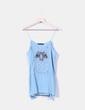 Blusa azul de tirantes con strass Zara