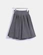 Falda midi vintage negra topos blancos plumetti Suiteblanco