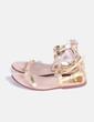 Sandalias romanas doradas Zara