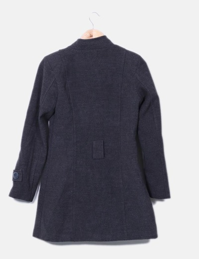 Abrigo gris doble boton