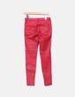 Pantalón pitillo rojo encerado Pull&Bear